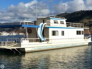 Used Master Fabricators 70 x 15 House Boat For Sale