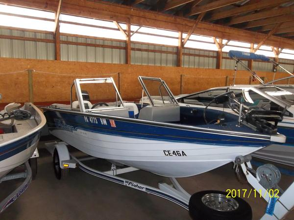 Used Fisher SV-16 Aluminum Fishing Boat For Sale