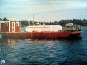 Used Corten Steel 20' x 52' Barge Boat For Sale
