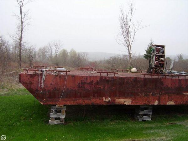 Used Corten Steel 16x40 Little Dipper Barge Boat For Sale