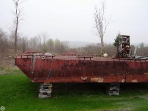 Used Corten Steel 16x40 Little Dipper Barge Boat For Sale