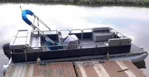 Used Harris Flotebote 24' Pontoon Boat24' Pontoon Boat Pontoon Boat For Sale