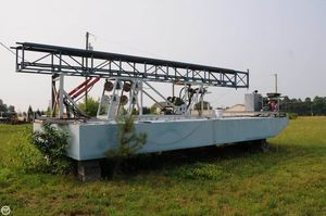 Used Custom 30 Work Barge Boat For Sale