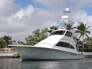 Used Ocean Yachts 57 Super Sports Enclosed Bridge Saltwater Fishing Boat For Sale
