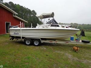 Used Angler 220 Walk Around Walkaround Fishing Boat For Sale