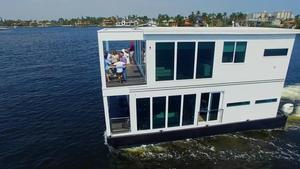 Used Houseboat Luxury Living Vessel House Boat For Sale