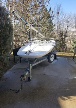 Used Melges Super Scow 16 Racer and Cruiser Sailboat For Sale