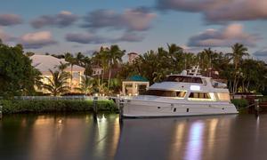 Used President Custom 750 Enclosed Bridge Motor Yacht For Sale