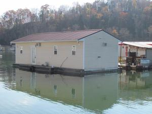 Used Custom 14 X 40 Floating Cottage House Boat For Sale