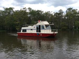 Used Harbor Master 375 Flybridge House Boat For Sale