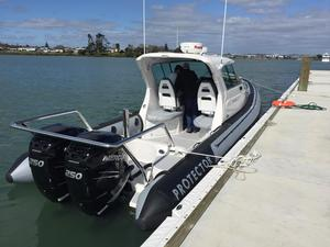 Used Protector Targa 30 Rigid Sports Inflatable Boat For Sale