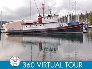 Used Converted Tug Historic 78 Foot Workboat Liveaboard / Yacht Conversion Motor Yacht For Sale