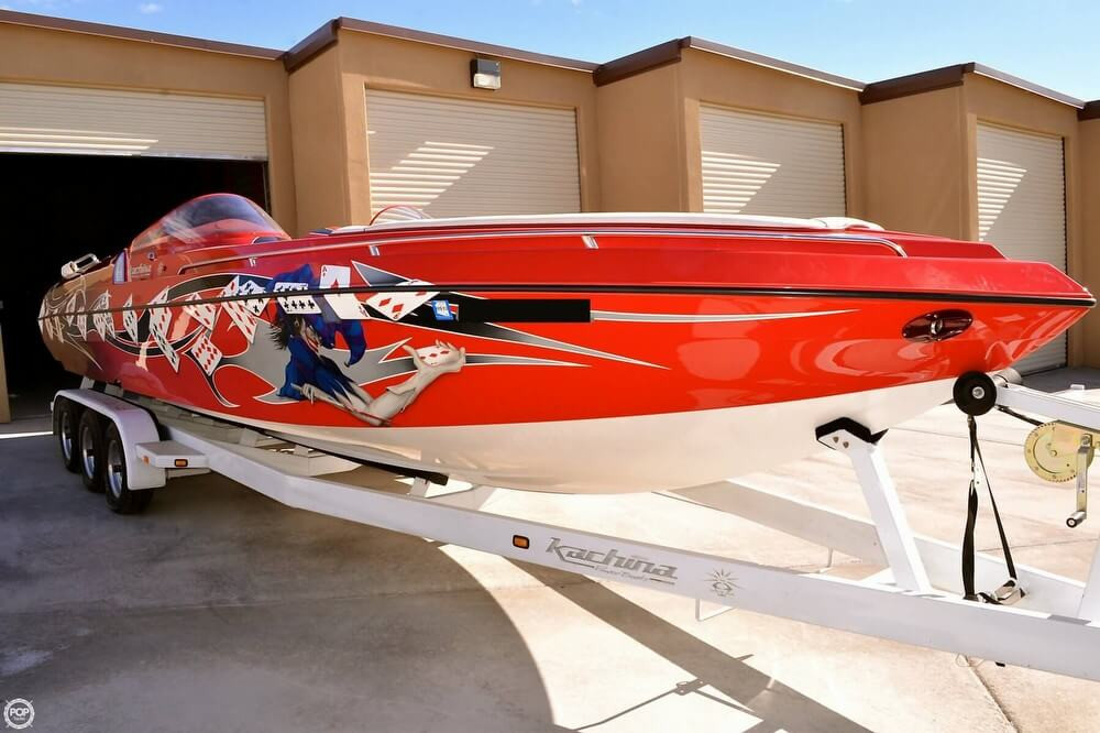2008 used kachina 30 drone open bow high performance boat for Fishing drone for sale