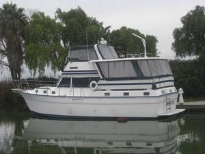 Used Gulfstar Flushdeck Motoryacht Trawler Boat For Sale