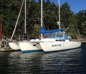Used Custom Cross - Foam Core Trimaran 42 Trimaran Sailboat For Sale