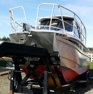 Used Bladerunner 33 Power Catamaran Boat For Sale