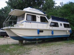 Used Holiday Mansion 38 Aft Cabin House Boat For Sale