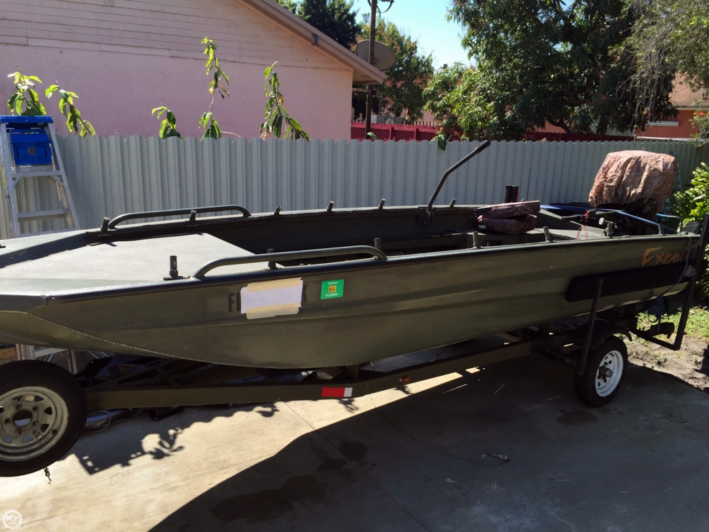 Used Excel 17 Aluminum Fishing Boat For Sale