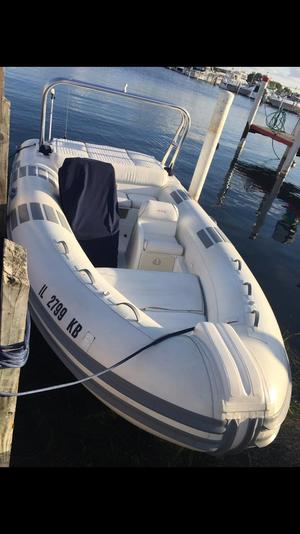 Used Caribe 17 Jet Rigid Sports Inflatable Boat For Sale