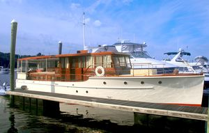 Used Elco Flat Top Classic Motor Yacht Antique and Classic Boat For Sale