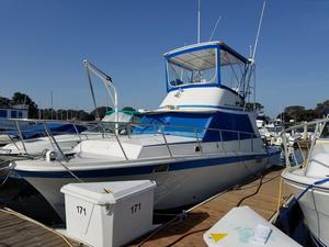Used Uniflite 34 Sport Sedan Convertible Fishing Boat For Sale