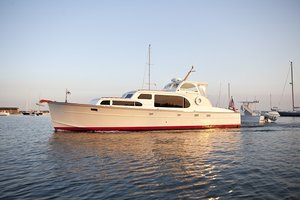 Used Huckins Sportsman 40 Pilothouse Boat For Sale