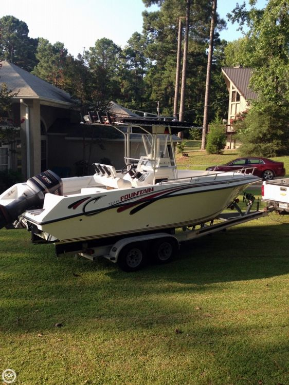 1999 used fountain 25 cc center console fishing boat for for Used center console fishing boats for sale