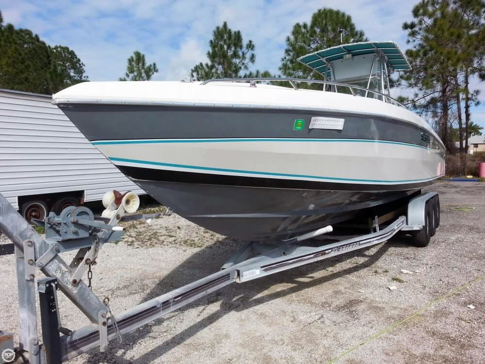 1987 used scarab 34 super sport center console fishing for Center console sport fishing boats