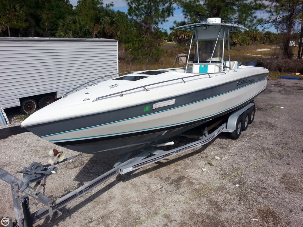 Used Scarab 34 Super Sport Center Console Fishing Boat For Sale