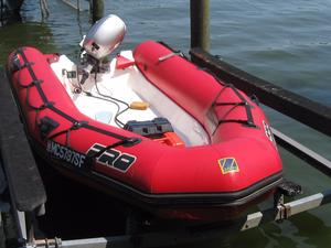 Used Zodiac 420 Pro II Rigid Sports Inflatable Boat For Sale