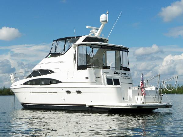 Used Carver 444 Es Flybridge Boat For Sale
