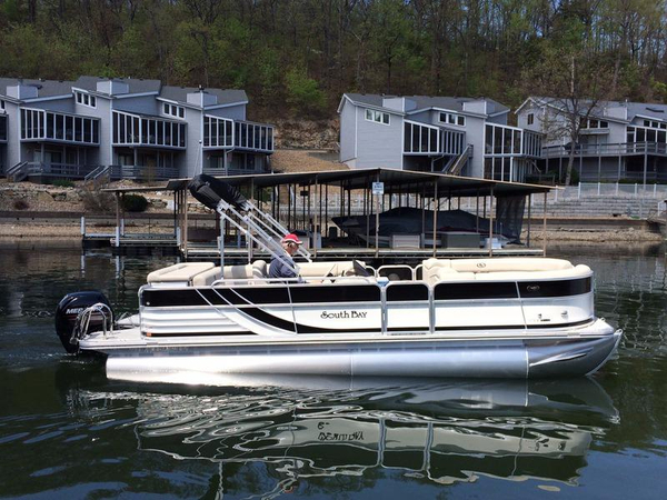 New South Bay 522 CR4GATE W150 Merc Pontoon Boat For Sale