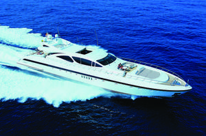 Used Mangusta 130 Express Cruiser Boat For Sale