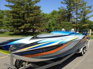 Used Skater 28 Pleasure Power Catamaran Boat For Sale