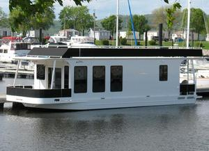 Used Skipperliner 480 Flybridge House Boat For Sale