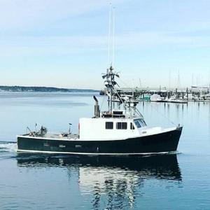 Used Dixon Offshore Lobster Boat With Greenstick Commercial Boat For Sale
