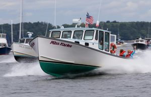 Used Mitchell Cove Lobster Boat - Cat C18 1000 HP Commercial Boat For Sale