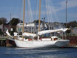 Used Schooner - Fiberglass Hull Commercial Boat For Sale