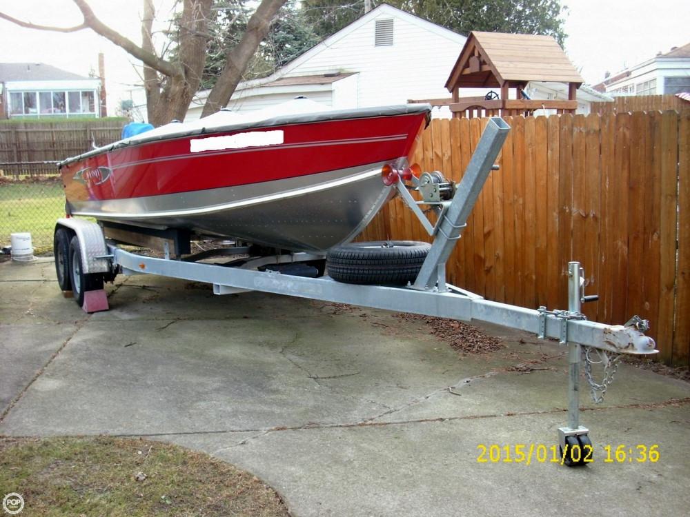 2013 used lund 2000 alaskan tiller aluminum fishing boat for Fishing boat for sale
