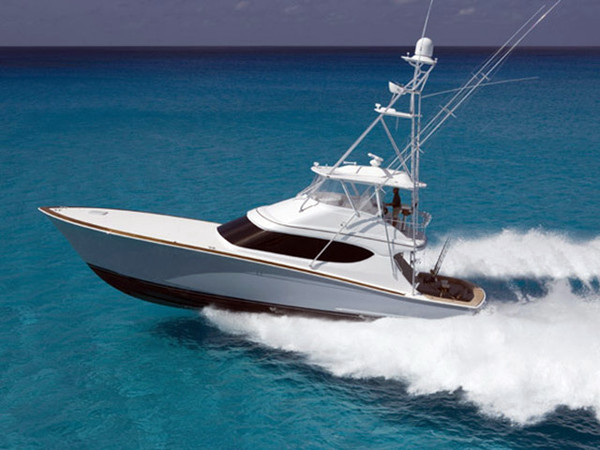 New Hatteras Convertible w/ Tower Sports Fishing Boat For Sale