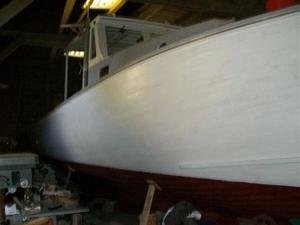 Used Paul Chapman Downeast Wooden Boat Commercial Boat For Sale
