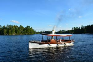Used Custom Steam Powered Launch Antique and Classic Boat For Sale