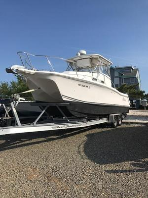 Used Prokat 2860 Walk Around Power Catamaran Boat For Sale