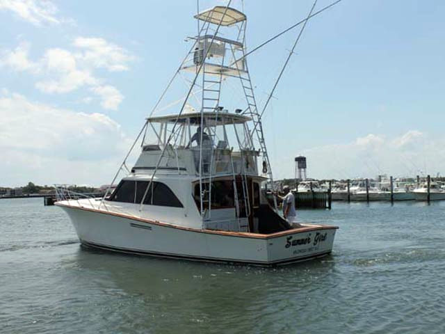 1985 used ocean yachts super sport sports fishing boat for for Fishing boats for sale nj