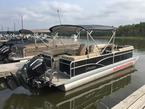Used Manitou 25 Aurora LE RF VP - Charcoal Pontoon Boat For Sale