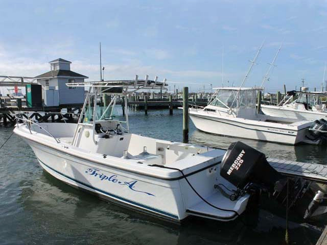 1996 used bayliner center console sportfish fishing boat for Fishing boats for sale nj