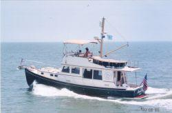 Used Jarvis Newman Flybridge Downeast Motor Yacht For Sale