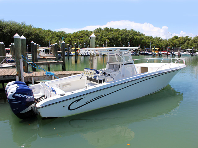 2006 used fountain 38 te center console fishing boat for for Center console fishing boats for sale