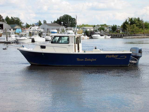 1999 used parker 2520 sport cabin saltwater fishing boat for Offshore fishing boats for sale