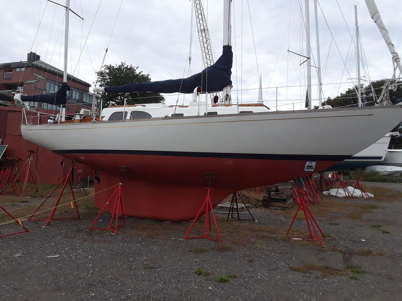 1965 Used Lecomte Northeast 38 Yawl Sailboat For Sale